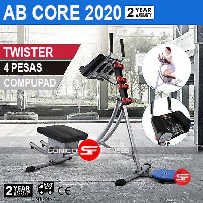 maquina para abdominales ab core x20 con accesorios