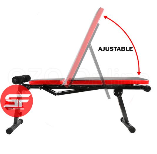 banco plegable ajustable sonico fitness