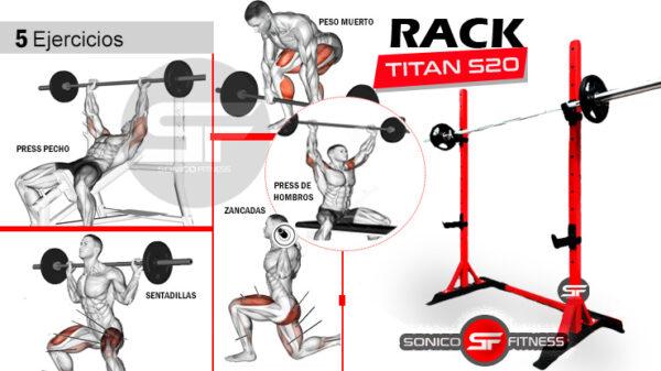 rack soporte para barras y pesas
