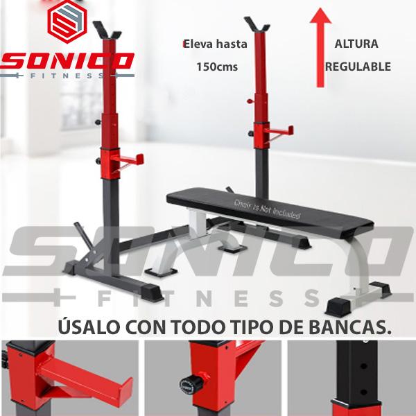 rack squat soporte ajustable de sentadilla y press