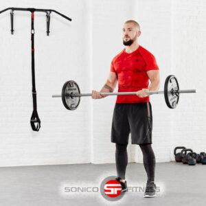 barra recta standar cromada para pesas 1.5mts maciza
