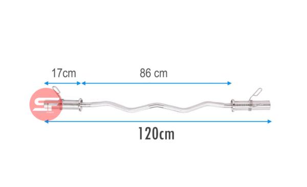 barra olimpica zeta 1.2 metros con seguros