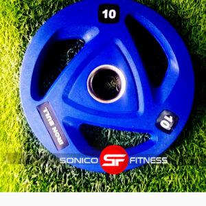 disco olimpico de caucho de 10 kilos