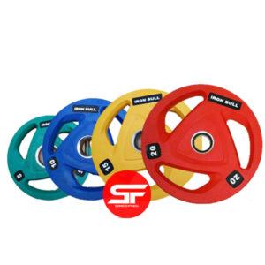 disco olímpico de caucho de colores 5kg