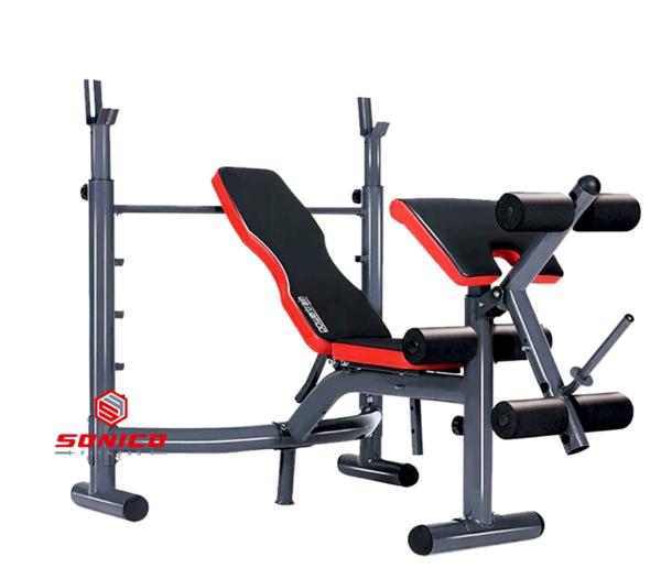 Banca de pesas multifuncional hammer sonico fitness