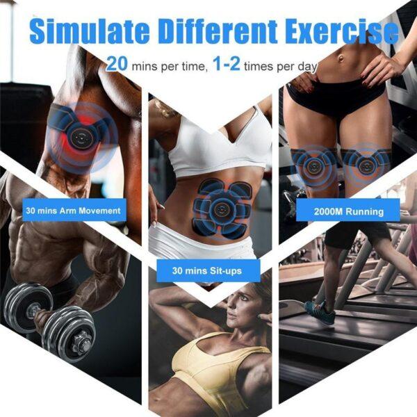 tonificador abdominal smart pad