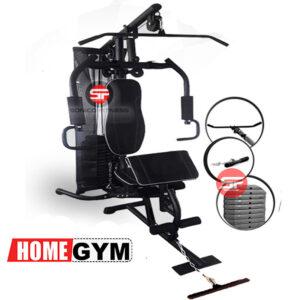 mini gimnasio de poleas para espalda bíceps y cuadriceps con placas de peso importado multigym minigym