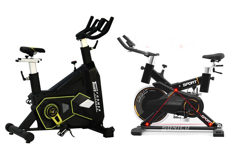 bicicleta de spinning de faja y silenciosa