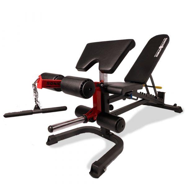 banca de gimnasio multifuncional profesional multifuncional con ejercicios de piernas pecho y brazos 800 libras de carga
