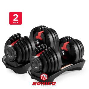 mancuernas ajustables pesas set varios tamaños sonico fitness